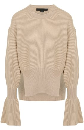 Пуловер из смеси шерсти и кашемира фактурной вязки | Фото №1