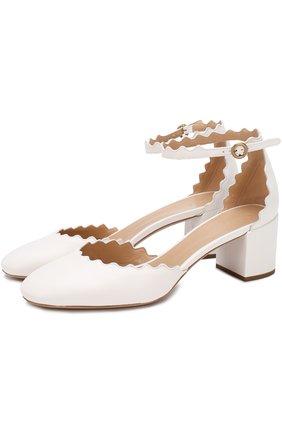 Кожаные туфли Lauren с ремешком на щиколотке