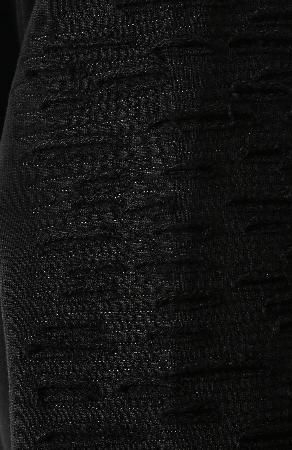Хлопковый кардиган на молнии с капюшоном Diesel черный | Фото №5