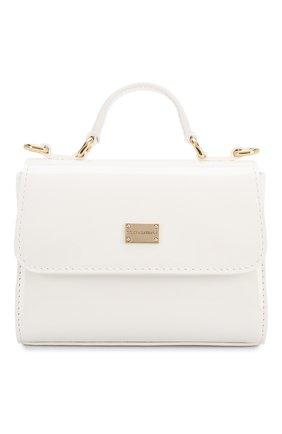 Детская лаковая сумка DOLCE & GABBANA белого цвета, арт. EB0103/A1471 | Фото 1