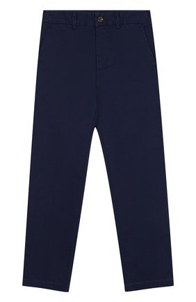 Хлопковые брюки прямого кроя   Фото №1