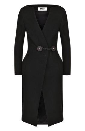 Приталенное однотонное пальто | Фото №1