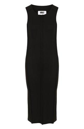 Приталенное платье-миди без рукавов | Фото №1