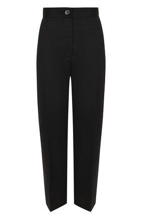 Укороченные однотонные брюки с карманами и стрелками | Фото №1