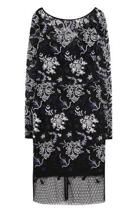 Приталенное кружевное мини-платье   Фото №1