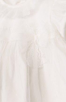 Женский хлопковый комплект из платья и трусов ALETTA кремвого цвета, арт. RB88377/1M-18M | Фото 3