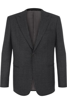 Однобортный пиджак из смеси шерсти и кашемира   Фото №1