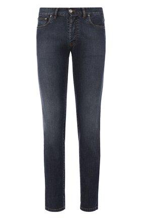 Мужские джинсы прямого кроя BRIONI темно-синего цвета, арт. SPLA0Q/PZD01/ANET0 | Фото 1