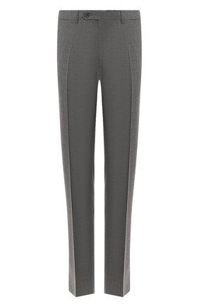 Мужские шерстяные брюки CANALI серого цвета, арт. 71012/AT00552   Фото 1