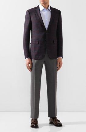 Мужской шерстяные брюки CANALI серого цвета, арт. 71012/AT00552 | Фото 2