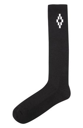 Хлопковые носки Marcelo Burlon черные   Фото №1