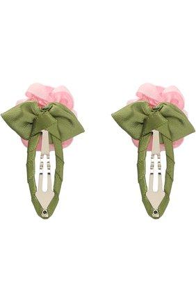 Детская комплект из двух заколок JUNEFEE розового цвета, арт. 4624 | Фото 2
