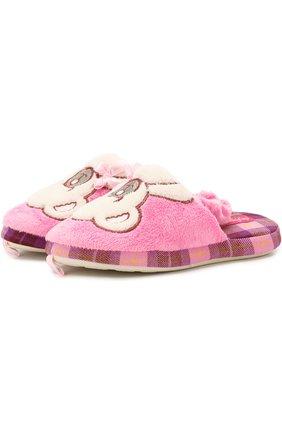Текстильная домашняя обувь с декором | Фото №1