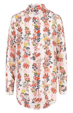 Женская шелковая блуза прямого кроя с принтом Equipment, цвет разноцветный, арт. 17-5-001154-E900 в ЦУМ | Фото №1