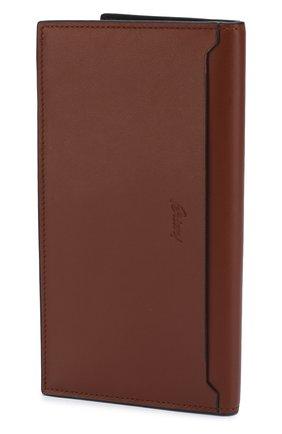 Мужской кожаное портмоне с отделениями для кредитных карт BRIONI светло-коричневого цвета, арт. 0HPY0L/06752 | Фото 2