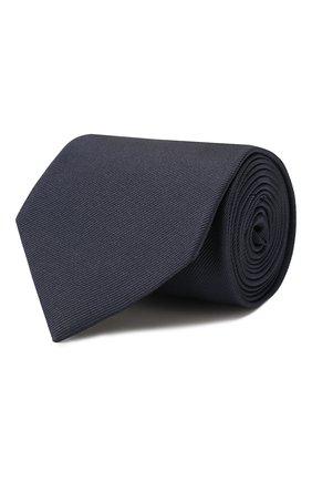 Мужской шелковый галстук BRIONI темно-синего цвета, арт. 062H00/PZ418 | Фото 1 (Материал: Текстиль; Принт: Без принта)