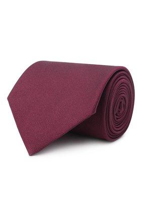 Мужской шелковый галстук BRIONI бордового цвета, арт. 062H00/PZ418 | Фото 1