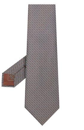 Мужской шелковый галстук с узором BRIONI зеленого цвета, арт. 062H00/P7449 | Фото 2