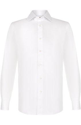 Мужская хлопковая сорочка с воротником кент CANALI белого цвета, арт. X05/GA00098/CS | Фото 1