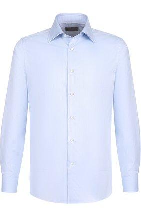 Мужская хлопковая сорочка с воротником кент CANALI голубого цвета, арт. X05/GA00098/CS | Фото 1
