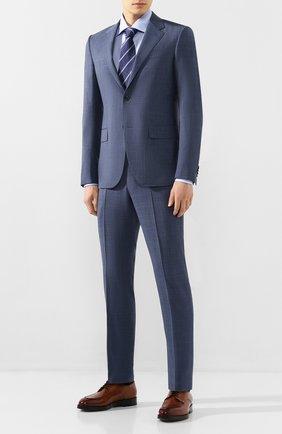 Мужская хлопковая сорочка с воротником кент ERMENEGILDO ZEGNA голубого цвета, арт. 301030/9RS0GS   Фото 2