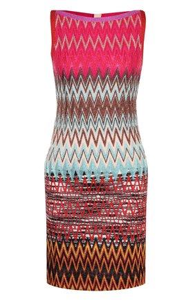 Приталенное вязаное мини-платье | Фото №1