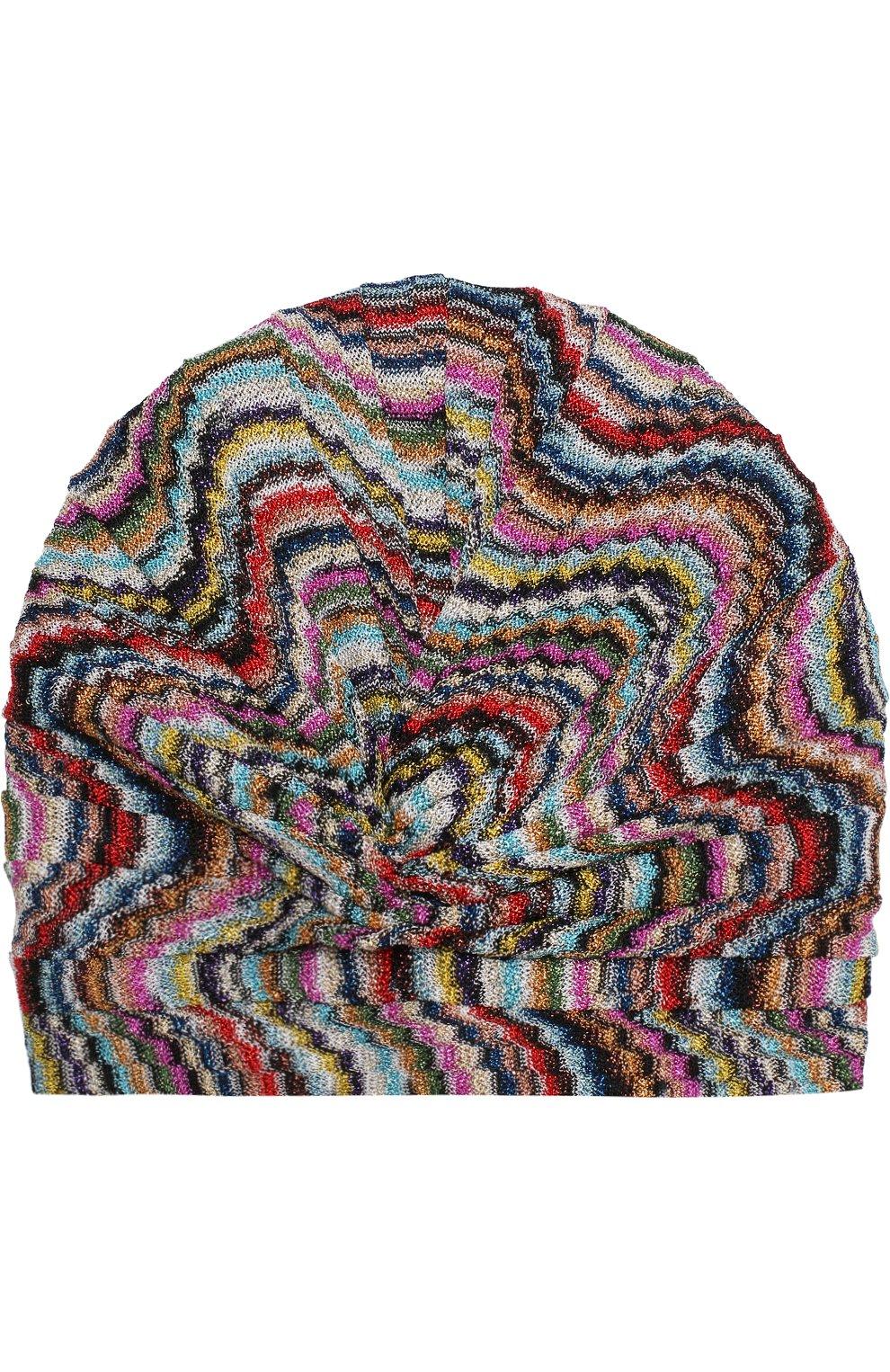 Вязаный тюрбан Missoni разноцветного цвета   Фото №2