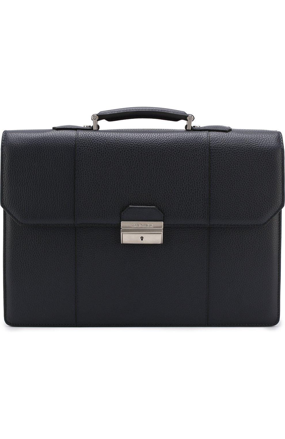 Кожаный портфель с плечевым ремнем   Фото №1