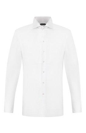Мужская хлопковая сорочка TOM FORD белого цвета, арт. 3FT000/94S3AX | Фото 1