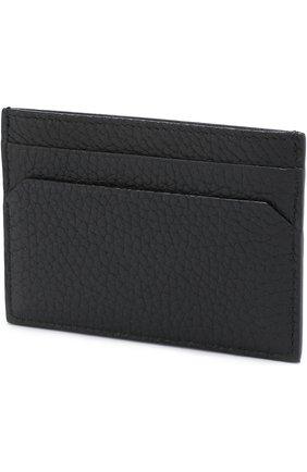 Кожаный футляр для кредитных карт Bally черного цвета   Фото №1