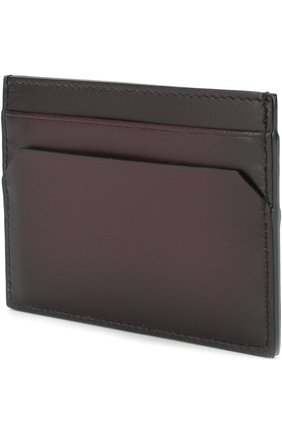 Кожаный футляр для кредитных карт Bally темно-фиолетового цвета   Фото №1