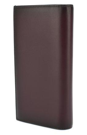 Кожаный бумажник с отделениями для кредитных карт Bally темно-фиолетового цвета | Фото №1