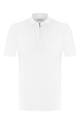 Мужское хлопковое поло GRAN SASSO белого цвета, арт. 58137/18120 | Фото 1