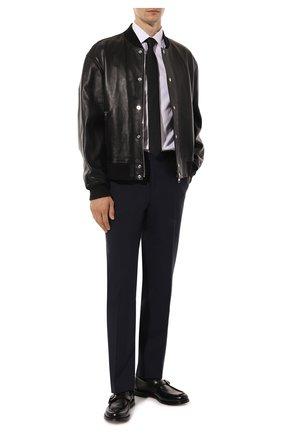 Мужской шерстяные брюки CANALI темно-синего цвета, арт. 71012/AT00552 | Фото 2
