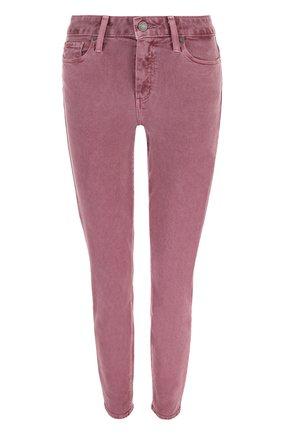 Однотонные укороченные джинсы-скинни