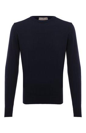 Мужской хлопковый джемпер CANALI темно-синего цвета, арт. C0012/MK00145   Фото 1