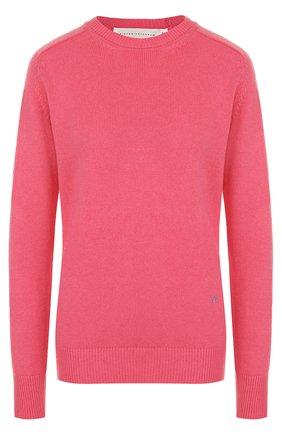 Однотонный кашемировый пуловер с круглым вырезом
