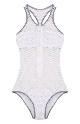 Слитный перфорированный купальник Melissa Odabash белый | Фото №1