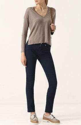 Женские джинсы LORO PIANA темно-синего цвета, арт. FAF6624 | Фото 2