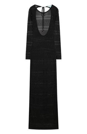 Вязаная приталенная туника с открытой спиной Melissa Odabash черная   Фото №1