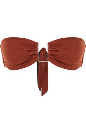 Однотонный бра-бандо Melissa Odabash коричневый | Фото №1