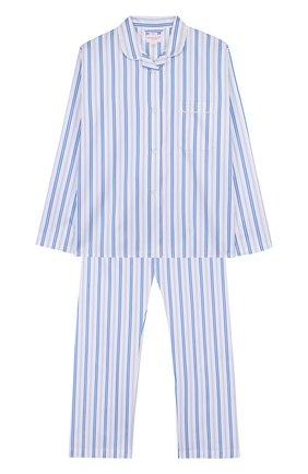 Детская хлопковая пижама с принтом DEREK ROSE белого цвета, арт. 7006-WELL046/13-16 | Фото 1