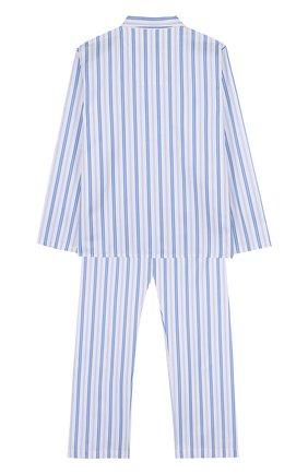 Детская хлопковая пижама с принтом DEREK ROSE белого цвета, арт. 7006-WELL046/13-16 | Фото 2