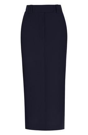 Однотонная юбка-карандаш с разрезом | Фото №1
