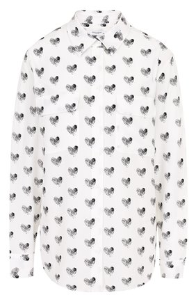 Женская шелковая блуза с накладными карманами и принтом Equipment, цвет черно-белый, арт. 17-5-001156-E035 в ЦУМ | Фото №1