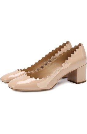 Лаковые туфли Lauren с фигурным вырезом | Фото №1