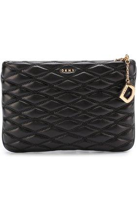 Сумка Quilted Nappa DKNY черная цвета | Фото №1