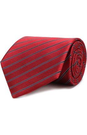 Шелковый галстук в полоску | Фото №1