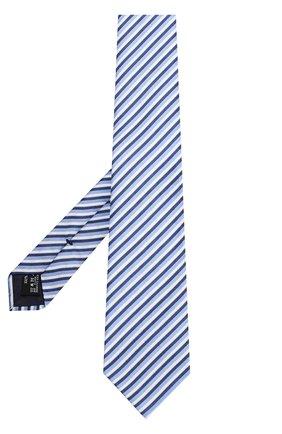 Мужской шелковый галстук в полоску GIORGIO ARMANI синего цвета, арт. 360054/8P802 | Фото 2