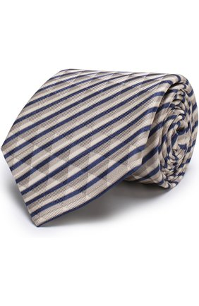 Мужской шелковый галстук в полоску GIORGIO ARMANI разноцветного цвета, арт. 360054/8P802 | Фото 1